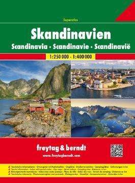 Skandinavien Superatlas, Autoatlas 1:250.000 - 1:400.000, Spiralbindung