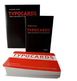 TYPOCARDS - Regeln und Begriffe zur Mikrotypografie, Lernkarten