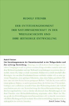 Der Entstehungsmoment der Naturwissenschaft in der Weltgeschichte und ihre seitherige Entwickelung