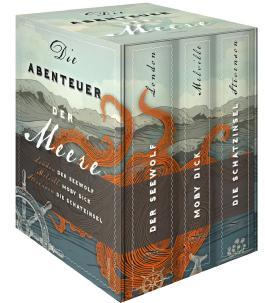 Die Abenteuer der Meere (3 Bände im Schuber: Der Seewolf;  Moby Dick; Die Schatzinsel)