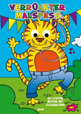 Wackelaugen Malbuch Tiger