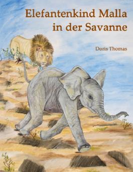 Elefantenkind Malla in der Savanne