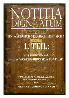 NOTIZIA DIGNITARUM / NOTITIA DIGNITATUM 1.Teil