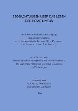 Beobachtungen über das Leben des Homo niveus