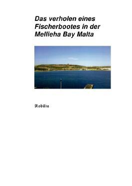 Das verholen eines Fischerbootes in der Mellieha Bay Malta