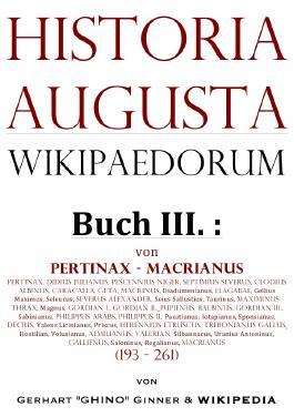 Historia Augusta Wikipaedorum / Historia Augusta Wikipaedorum Buch III.