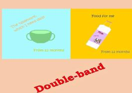 Double-band - Tableware and food for toddlers