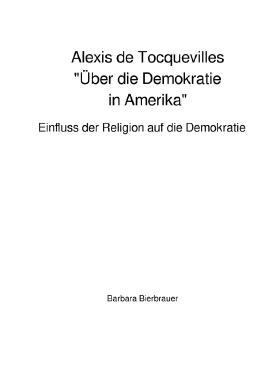 "Alexis de Tocquevilles ""Über die Demokratie in Amerika"""
