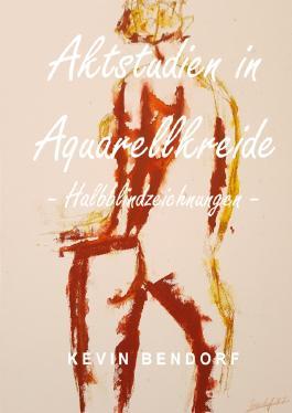 Aktstudien in Aquarellkreide - Halbblindzeichnungen -