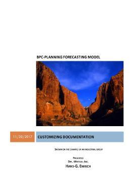 BPC-PLANNING FORECASTING MODEL