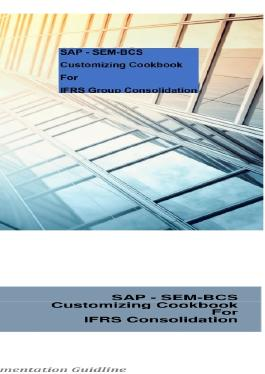 SAP - SEM-BCS Customizing Cookbook