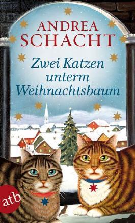 Zwei Katzen unterm Weihnachtsbaum