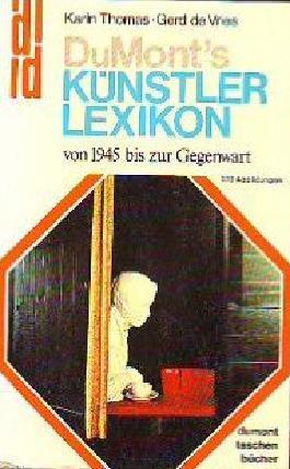 DuMont Künstlerlexikon von 1945 bis zur Gegenwart