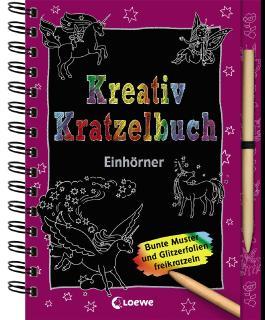 Kreativ-Kratzelbuch: Einhörner
