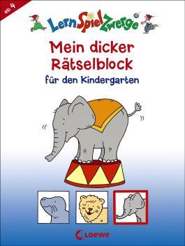 Mein dicker Rätselblock für den Kindergarten