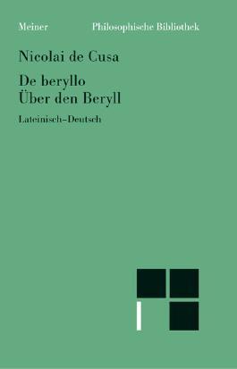 Über den Beryll. De beryllo