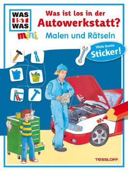 Malen und Rätseln: Was ist los in der Autowerkstatt?