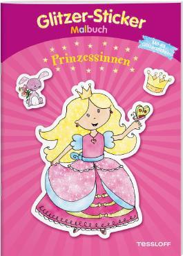 Glitzer-Sticker-Malbuch. Prinzessinnen