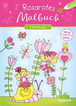 Rosarotes Malbuch. Einhörner