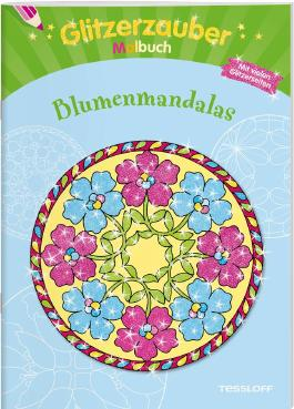 Glitzerzauber Malbuch Blumen-Mandalas