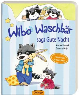 Wibo Waschbär sagt Gute Nacht