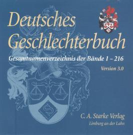 Deutsches Geschlechterbuch - CD-ROM. Genealogisches Handbuch bürgerlicher Familien
