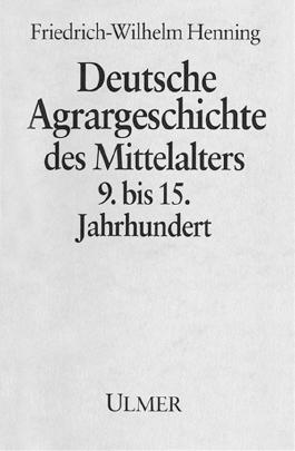 Deutsche Agrargeschichte des Mittelalters