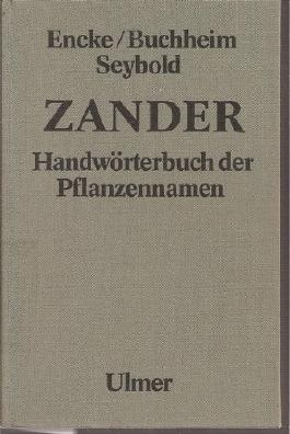 Handworterbuch Der Pflanzennamen