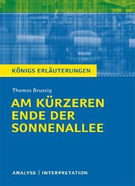 Textanalyse und Interpretation zu Thomas Brussig. Am kürzeren Ende der Sonnenallee