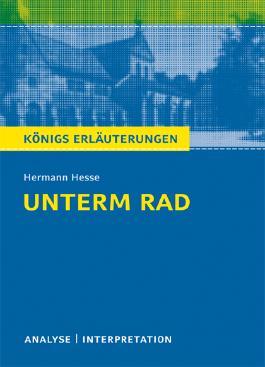 Textanalyse und Interpretation zu Hermann Hesse. Unterm Rad