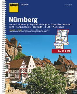 ADAC StadtAtlas Nürnberg mit Ansbach, Bamberg, Bayreuth, Erlangen, Fränkisches