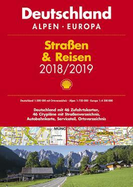 Shell Straßen & Reisen 2018/19 Deutschland 1:300.000, Alpen, Europa