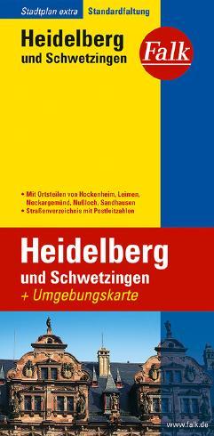 Falk Stadtplan Extra Standardfaltung Heidelberg und Schwetzingen mit Ortsteilen