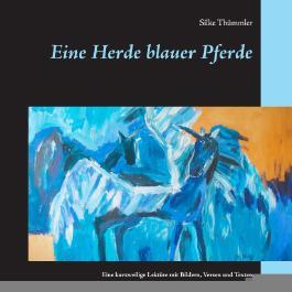Eine Herde blauer Pferde