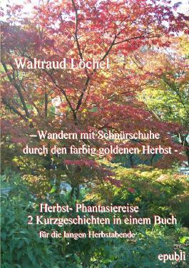 - Wandern mit Schnürschuhe durch den farbig goldenen Herbst -