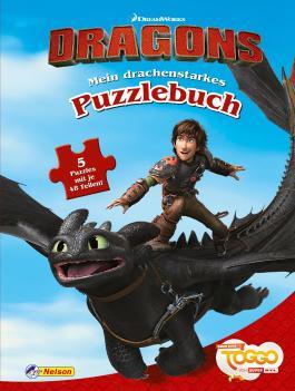 """DreamWorks Dragons """"Auf zu neuen Ufern"""": Mein drachenstarkes Puzzlebuch"""