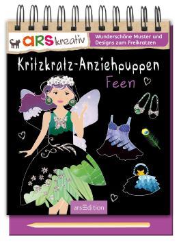 Kritzkratz-Anziehpuppen Feen