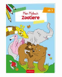 Malbuch ab 3 - Zootiere VE5