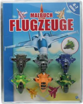 Malbuch mit Flugzeugen