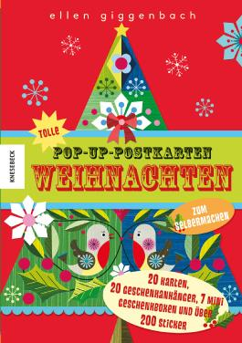 Tolle Pop-up-Postkarten Weihnachten - zum Selbermachen