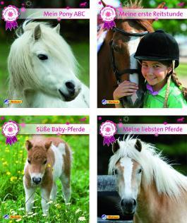 Mini-Bücher 24er-Display Pferde und Ponys 1-4