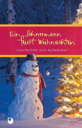 Ein Schneemann feiert Weihnachten