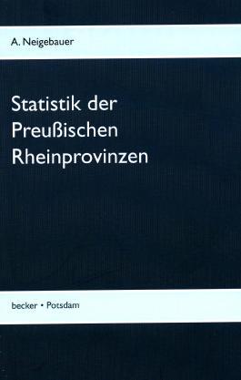 Statistik der Preußischen Rhein-Provinzen