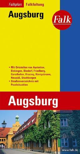 Falk Stadtplan Falkfaltung Augsburg mit Ortsteilen von Aystetten, Bobingen, Dien