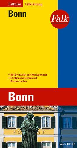 Falk Stadtplan Falkfaltung Bonn mit Ortsteilen von Königswinter 1:17 000