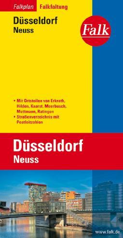 Falk Stadtplan Falkfaltung Düsseldorf/Neuss mit Ortsteilen von Erkrath, Hilden