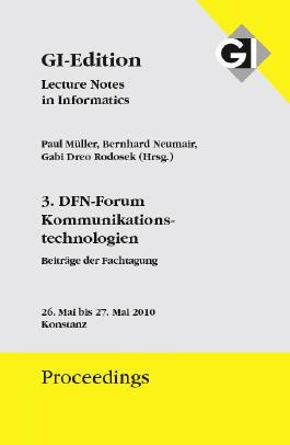 Proceedings 166 - 3. DFN-Forum Kommunikationstechnologien