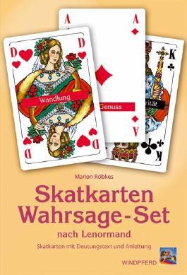 Skatkarten-Wahrsage-Set nach Lenormand