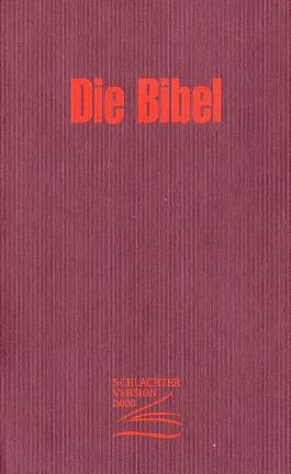 Bibel, Schlachter, Version 2000, neue revidierte Fassung, rot