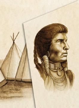 Illustriertes Notizbuch mit Indianerweisheiten